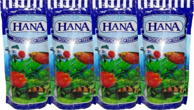 Hana 4x100gm Pouch(Red Coiour Pellet) Fish Fish Food