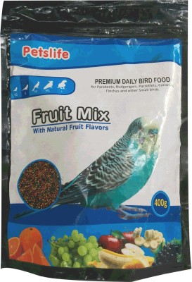 Taiyo Petslife- FRUITMIX Daily Finches & Love Birds Food 400g - Natural Flavors *** COLOURFUL AQUARIUM ** Fruit Bird Food(400 g Pack of 1)