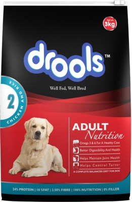 Drools Adult Nutrition Chicken, Rice Dog Food