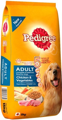 Pedigree Adult Vegetable, Chicken Dog Food(15 kg Pack of 1)