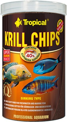 Tropical Krill Chips| Sinking Type (Super Tasty Food For FreshWater & Marine Fishes) | NA Fish Food