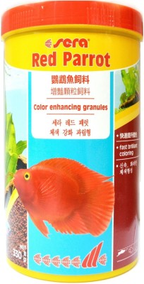 Sera Red Parrot 330g/1000ml | Color Enhancing Granules | Fast Brilliant Coloring Fish Food
