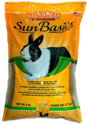 Sunseed Sun Basics A Nutritionally Complete Daily Diet 2.7kg NA Rabbit Food(2.7 kg Pack of 1)