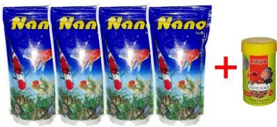 Hana Nano 4x100gm Pouch + 10gm Tubifex Worms Fish Fish Food