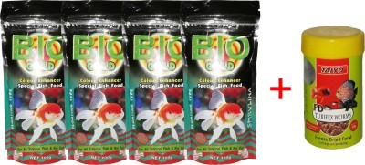 Taiyo Bio Gold 4x100gmpouch + 10gm Tubifex Worms Fish Fish Food