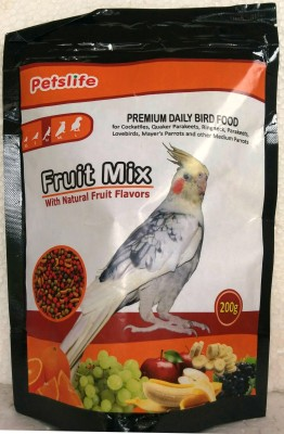 Taiyo Petslife cockatiles Birds Daily food 200g ** COLOURFUL AQUARIUM ** Fruit Bird Food(200 g Pack of 1)