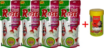 Taiyo Red Rose 4x100gm + 10gm Tubifex Worms Fish Fish Food