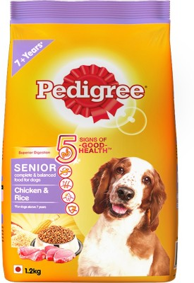 Pedigree Adult - Senior Chicken, Rice Dog Food(1.2 kg Pack of 1)