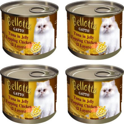Bellota Tuna In Jelly Topping Chicken NA Cat Food