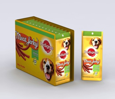 Pedigree Meat Jerky Bacon Bacon Dog Food(720 Pack of 12)