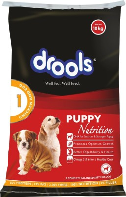 Drools Puppy Chicken, Egg Dog Food(10 kg Pack of 1)