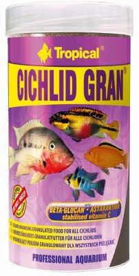Tropical Cichlid Gran 138g/250ml | Beta-Glucan, Astaxanthin Stabilised Vitamin C NA Fish Food