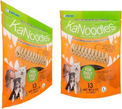 Forcans Kanoodles Premium Dental Chew 60z L(Pack of 2) Mint Dog Food