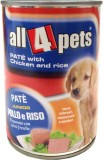 All4pets Pate Chicken, Rice Dog Food (40...