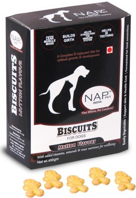 Nappets India Healthy Flavoured Biscuits Mutton Dog Food