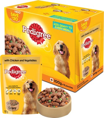 Pedigree Adult Chicken, Vegetable Dog Food(1200 g Pack of 12)
