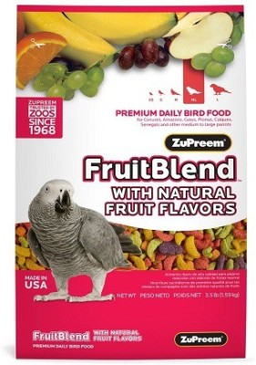 Zupreem FruitBlend Parrot Conure Medium to Large Fruit Bird Food