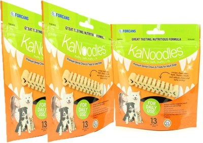 Forcans Kanoodles Premium Dental Chew 30z SS(Pack of 3) Mint Dog Food