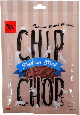 CHIP CHOPS Snacks Fish on Stick, 70gm Chicken Dog Food