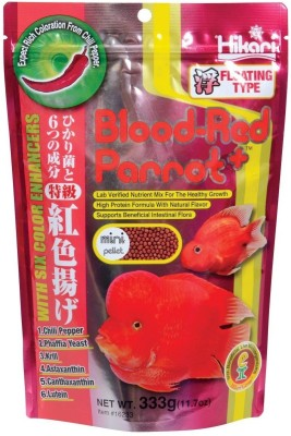 Hikari Blood-Red Parrot 333g | With Six Color Enhancers | Floating Type NA Fish Food