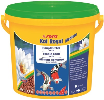 Sera Koi Royal Medium 800g   Staple Diet For All Koi   NA Fish Food