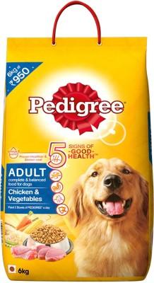 Pedigree Adult Chicken, Vegetable Dog Food(6 kg Pack of 1)