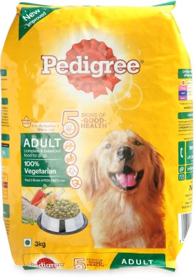 Pedigree Ped Adult Vegetable, Milk, Rice Dog Food(3000 g Pack of 1)