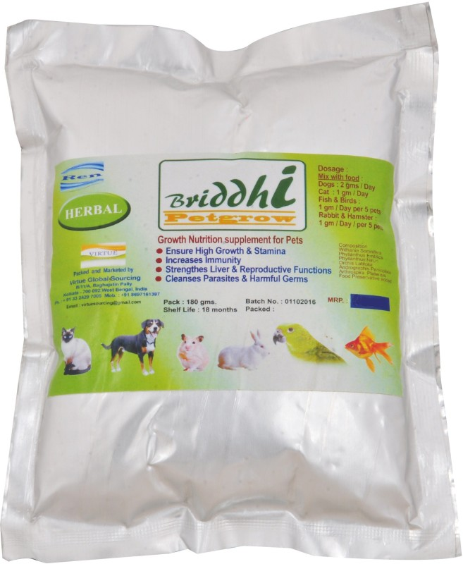 Briddhi Petgrow BPG-102016 Pet Health Supplements(180 g)
