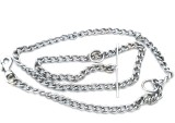 Kristal 152 cm Dog Chain Leash (Silver)