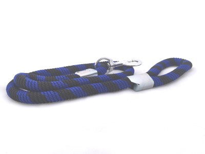 Scoobee 152 cm Dog Chain Leash(Blue, Black)