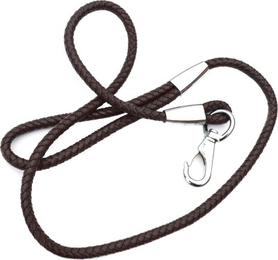 XPO Brown Leather 127.50 cm Dog Cord Leash