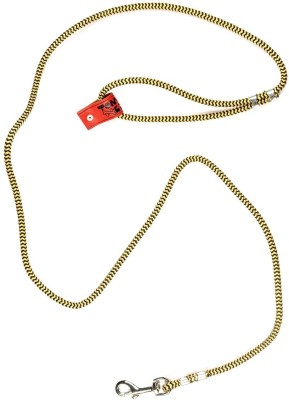 TommyChew Everyday 160 cm Dog Cord Leash(Gold, Black)