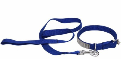 Pet Bliss Diamond Collar 119 cm Dog & Cat Cord Leash(Blue)