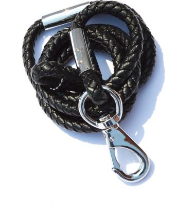 XPO Black Leather 127.50 cm Dog Cord Leash