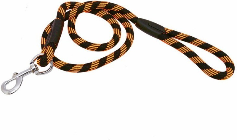 Pet Bliss Thick Nylon Rope 167 cm Dog & Cat Cord Leash(Orange, Black)
