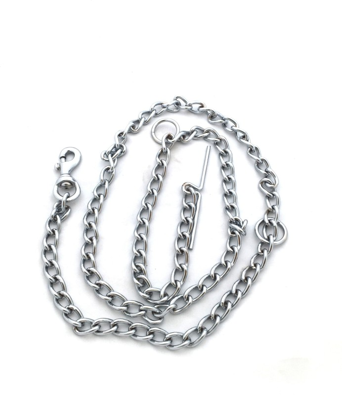 Scoobee 152 cm Dog Chain Leash(Silver)