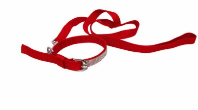 Pet Bliss Diamond Collar 119 cm Dog & Cat Cord Leash(Red)