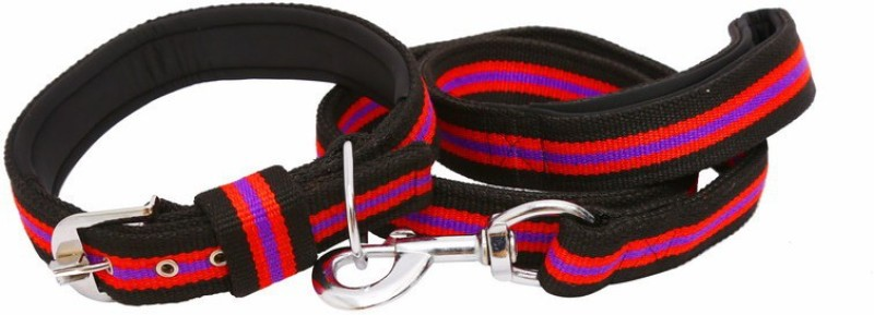 Pet Bliss Padded Thick Collar 124 cm Dog & Cat Cord Leash(Multicolor)