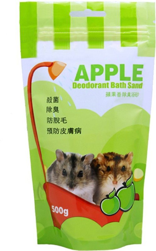 Anokhe Collections Bath Sand for Hamster / Dwarf / Gerbil / Chinchilla / Mice (Apple) Pet Litter Tray Refill