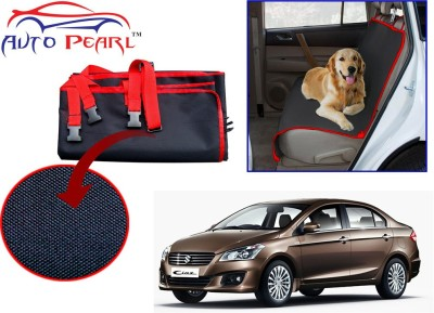 Auto Pearl Ptc49 - Premium Make Red Black Car For - Maruti Suzuki Ciaz Hammock Pet Seat Cover