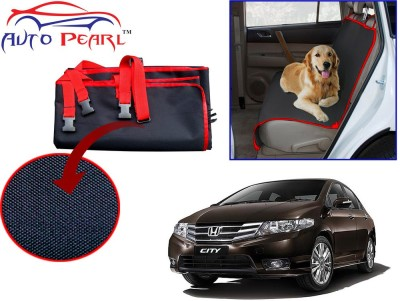 Auto Pearl Ptc78 - Premium Make Red Black Car For - Honda_city Hammock Pet Seat Cover