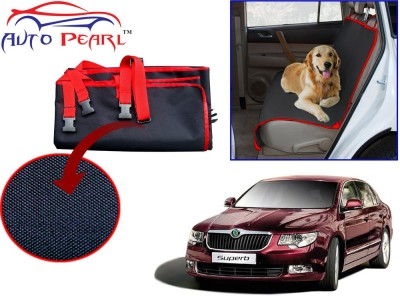Auto Pearl PTC137 - Premium Make Red Black Car For - Skoda Superb Hammock Pet Seat Cover