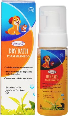 zasmina dog puppies dry bath foam shampoo All Purpose natural Dog Shampoo