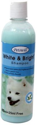 Petswill White & Bright Whitening and Color Enhancing Dog Shampoo