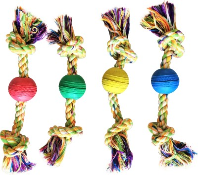 Pet Lovers NZ Flossy Chew Toy with a Ball Cotton Fetch Toy For Dog