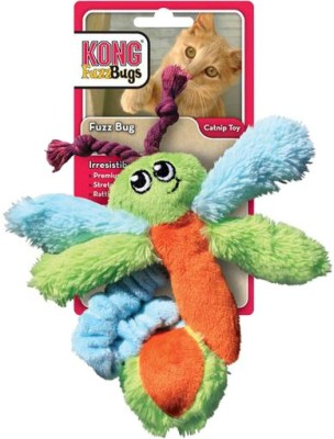 Kong Kitty Fuzz Bugs Assorted Squeaky Toy For Cat