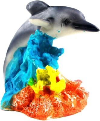 Royal Pet Aquarium Decorative Dolphin With Air Stone | Bubble Effect | Medium Size Fiber Plush Toy For Fish