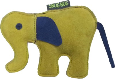 Snug Hug Leather Elephant Large Jute Tug Toy For Dog