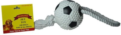 Glenand Vinyl Soccerball With Rope Handle Squeaky Toy For Dog