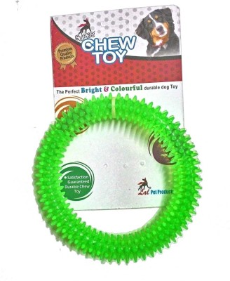Super Dog Chew Spike Dental Play Ring Rubber Rubber Toy For Dog